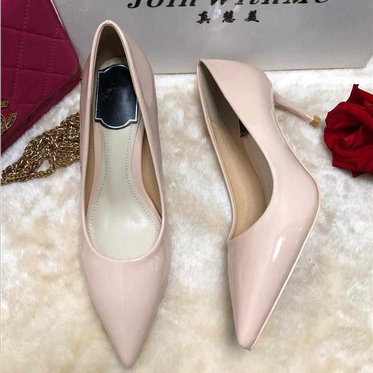 Patent Leather Pumps Women High Heels Shoes Women Sexy Slip on Dress Shoes Party Chaussures Femme Wedding Shoes Zapatos De Mujer