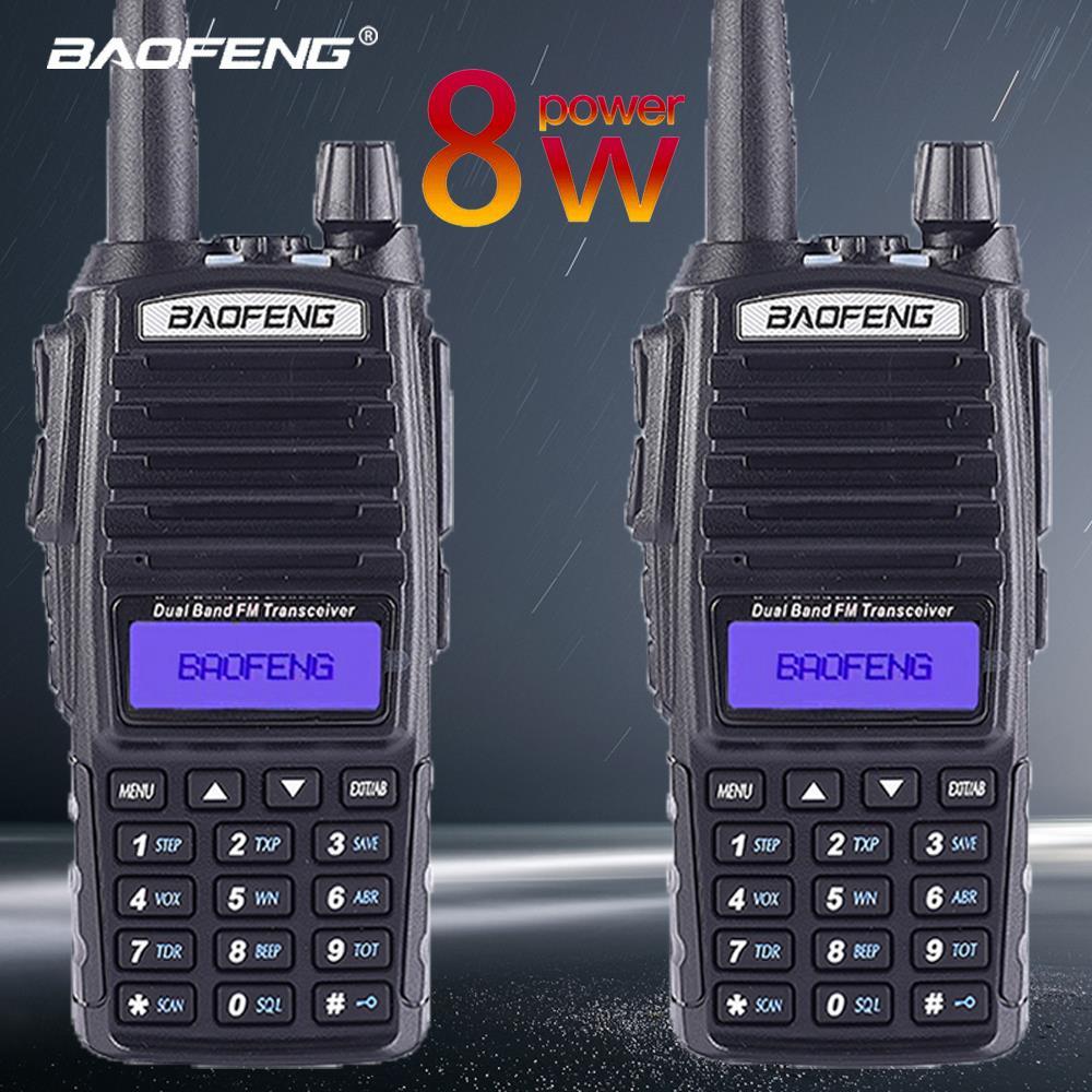 2 Pcs Baofeng Ture 8W UV-82 10KM Long Range Powerful Walkie Talkie Portable CB Vhf/uhf Two Way Radio Amador 8 Watts Transceiver