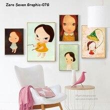 Japanischen Comics Yoshitomo Nara Arbeitet Cartoon Mädchen Leinwand Poster Drucken Bild Wand Kunst Für Kinder Zimmer Moderne Dekoration