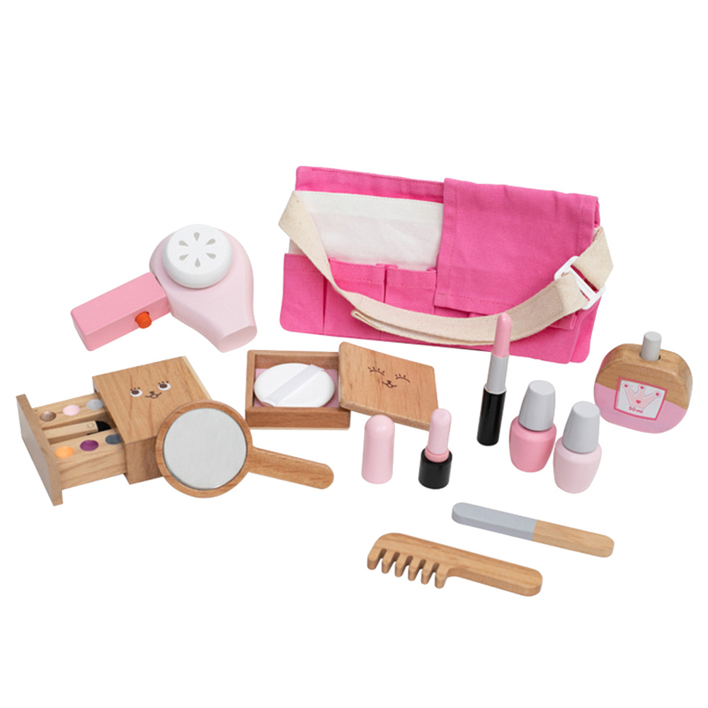 1 Set Simulation Make Up Play Set Wooden Role Play Pretend Make Up Set Cosmetics Toy Beauty Accessory For Kids