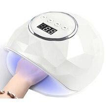 78W Pro Nail Led Lampada UV Professionale Asciugatrice Lampada Del Chiodo Del Gel Per La Nail Tutti I Gel Polish Sensore di Sole Ha Portato luce Unghie Artistiche di Strumenti per Manicure