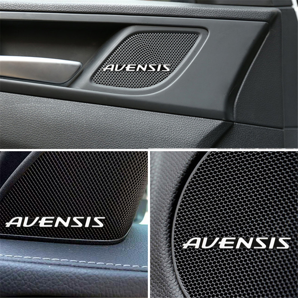 10pcs car audio decorate 3D Aluminum Badge Emblem Sticker For Toyota Avensis t25 t27 Stickers Accessories Car-Styling