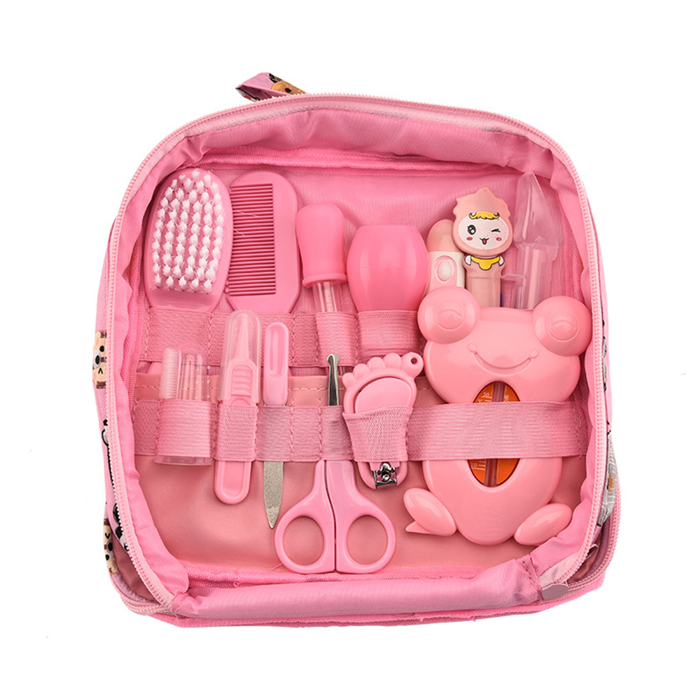 13PCS Multifunction Baby Healthcare Kit Newborn Kid Care Kit Baby Grooming Set Kit Thermometer Clipper Kid Toiletries for Baby