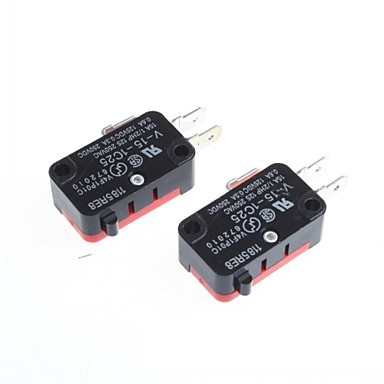 V-15-1C25 15A 250V/125V AC SPDT Momentary Snap Action Micro Limit Button Switch Micro Switch SPDT (Pack Of 2)