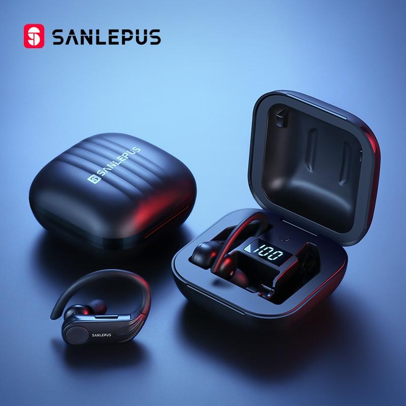 SANLEPUS B1 Led Display Bluetooth Earphone Wireless Headphones TWS Stereo Earbuds Waterproof Noise Cancelling Headset With Mic|Bluetooth Earphones & Headphones| |  - AliExpress