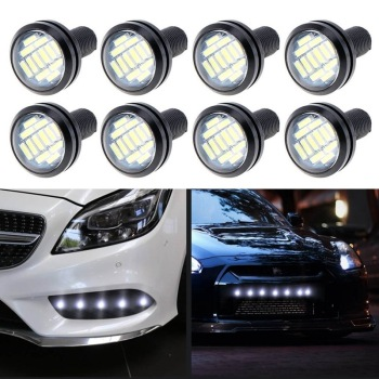 White DC 12V Eagle Eye LED Light 4014 12SMD 23MM Daytime Running DRL Backup Light Car Auto Lamp image