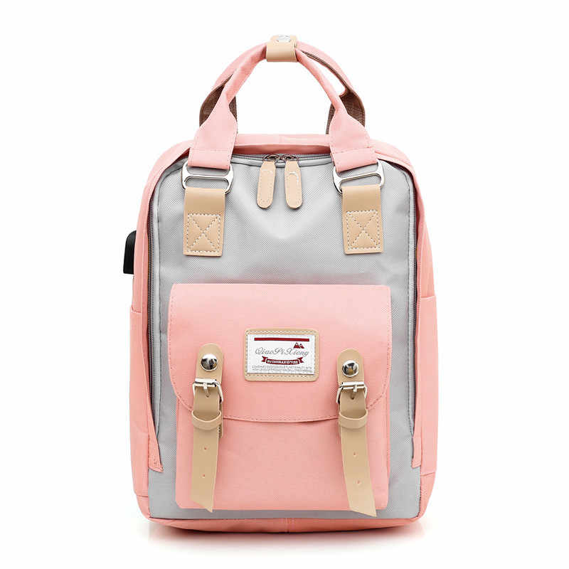 New Women Backpack Multifunction USB Shoulder Bag Canvas Laptop Backpack Schoolbag For Teenager Girls Boys Travel Backpacks