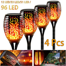 Flame-Light Flicker-Torch Garden-Path Solar Outdoor Waterproof LED 96 Holiday