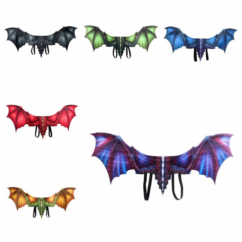 Non Woven Fabric 3D Dragon Wing 2019 Halloween Mardi Gras Dragon Costume Cosplay Wings Adult Decoration n in Party DIY Decorations from Home Garden