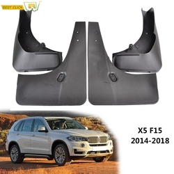 4pcs Front Rear Molding Mud Flaps Mudguards Splash Guards For BMW X5 F15 2014 – 2018 Mudflaps 2015 2016 2017 Car Styling