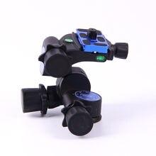 Benro gd3wh tripé de câmera, três dimensionais, cabeça de engrenagem, material de liga de magnésio preto