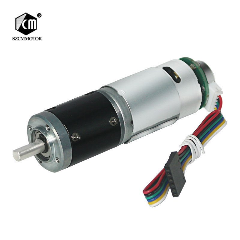 Hall Encoder Planet deceleration Geared <font><b>Motors</b></font> Silent Long Life Lare Torque <font><b>DC</b></font> 12V 340RPM Planetary Gear <font><b>Motor</b></font> Planet 28Dim Gearbox Speed Ruducer <font><b>Motor</b></font> image