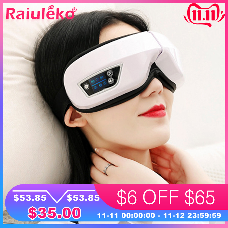 Vibration Eye Massager Eyes Care Device Wrinkle Fatigue Relieve Hot Compressing Air Pressure Therapy Massage Eyewear Glasses