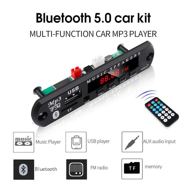 5V 12V MP3 WMA Decoder Board Audio Module USB TF Radio Bluetooth5.0 Wireless Music Car MP3 Player With Remote Control 1