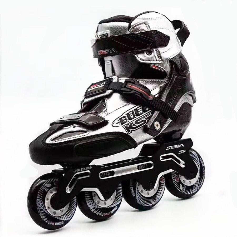 2019 original seba ksj bala profissional slalom inline patins de fibra carbono sapatos patinação slding patines patinação livreSapatos de Skate   -