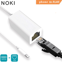 Adapter for Lightning to RJ45 Ethernet LAN Wired Networrk 100Mbps Network Cable Overseas Travel Compact For iPhone 7/8/7P/8P|Phone Adapters & Converters| |  -