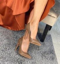 Onlymaker damskie Plus duże rozmiary 15 buty codzienne Sexy szpiczasty nosek szpilki Slip On czółenka na szpilkach konfigurowalny obcas 8-12cm
