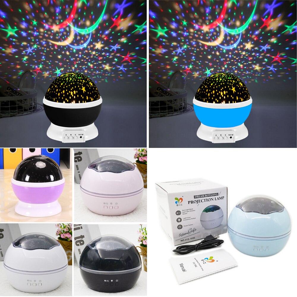 Nowy  LED  StarlightName  Marzenie  obrót  romantyczne  StarlightName  Światło projekcyjne  USB  Akumulator  Dziecko  prezent  Nocne światło  Lampa dekoracyjna