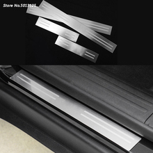 Stainless Steel Auto Door Sill Scuff Plate Guard Welcome Pedal Cover Stickers For Jeep Compass 2011 2012 2013 2014 2015 2016 new 6pcs steel inside door sill scuff plate cover guards for jeep patriot compass 2011 2015