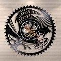Спортивные настенные часы для горного велосипеда  винтажные виниловые настенные часы для езды на горном велосипеде  велосипедные Bikers в под...