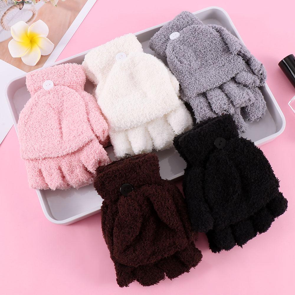Fahsion Girls Women Ladies Hand Wrist Warmer Winter Fingerless Gloves Mitten