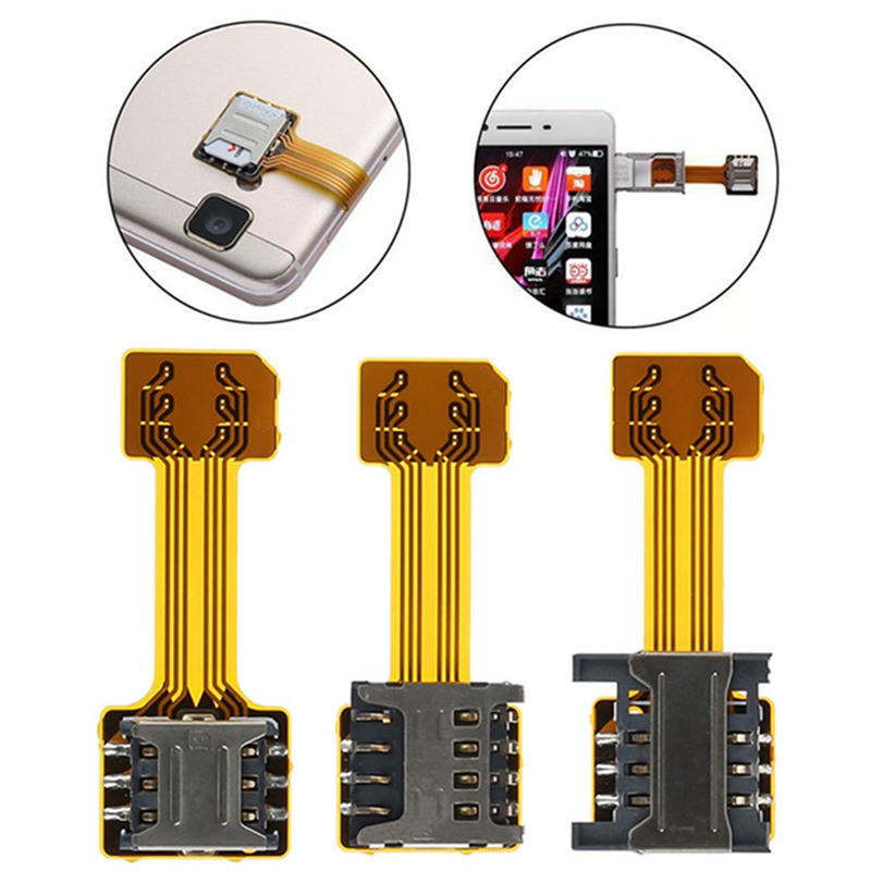 Universal TF Hybrid Sim Slot Dual SIM Card Adapter Micro SD Extender Nano Android Phone For Xiaomi