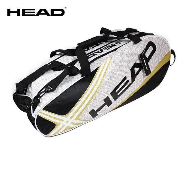 HEAD Tennis Bag Tennis Racket Bag Badminton Bag Capacity 6-9 Racquet Sport Bags Men Tenis Racket Pack Badminton Backpack
