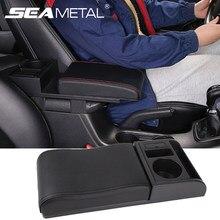Podłokietnik samochdoowy pudełko do przechowywania Box Auto podłokietnik uniwersalny pasuje do 95% wsparcie łokcia pojazdu z porty USB do ładowania uchwyt na kubek