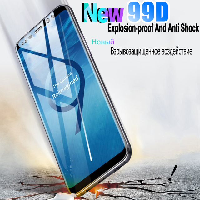 99D Curved Tempered Glass For Samsung Galaxy S8 S9 S10 Plus S20 Ultra Screen Protector