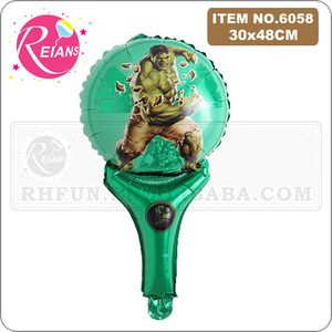 Image 3 - Avenger super hero stick balloons cartoon figure handheld foil balloons party supplies birthday party decorations kids toys