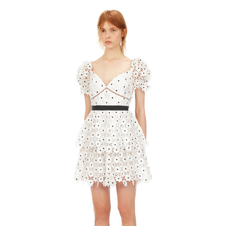 vestido de designer de pista de verao 2020 feminino de alta qualidade elegante com decote em