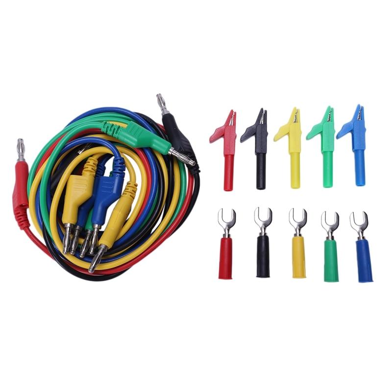 P1036A 4Mm Banana Zu Bananen Stecker Test Blei Kit Für Multimeter Kabel Spiel Alligator Clip U Typ Test Sonde-in Multimeter aus Werkzeug bei title=