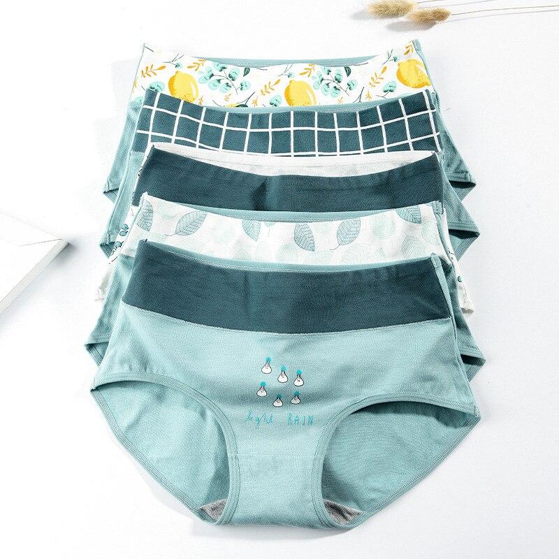 Seamless Cotton   Panties   Women Lingerie Comfort Briefs Underwear Set Sweet Design Young Girl High Waist Underpants 2pcs/lot XXL#D