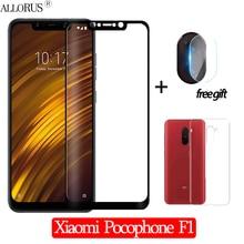 3-in-1 Case + Camera Tempered Glass For Xiaomi Pocophone F1 Screen Protector Lens Glass xiaomi pocophone f1 Camera Glass 6.18
