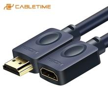 CABLETIME uzatma HDMI kablosu 4k 2.0 60Hz 3D UHD Pro HDMI M/F genişletici CL3 üçlü koruma kablo için HDTV PC monitörler C121