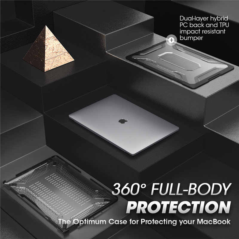 Para macbook pro 16 case a2141 (2019 lançamento) capa amortecedora do tpu da série ub, capa com barra de toque e id do toque