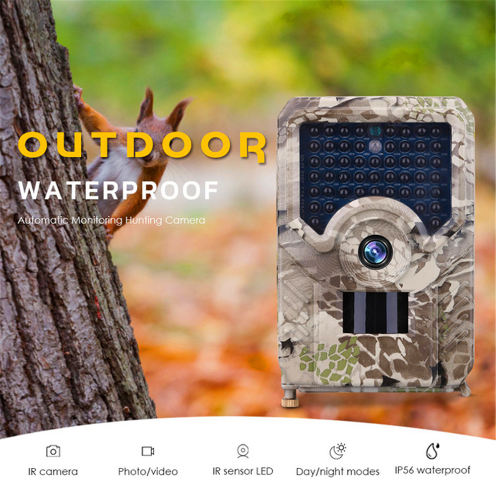 Trail Hunting Camera 12MP 1080P Trail Camera Waterproof Wildlife Outdoor Night Vision Photo Traps Cameras Video <font><b>PR200</b></font> image
