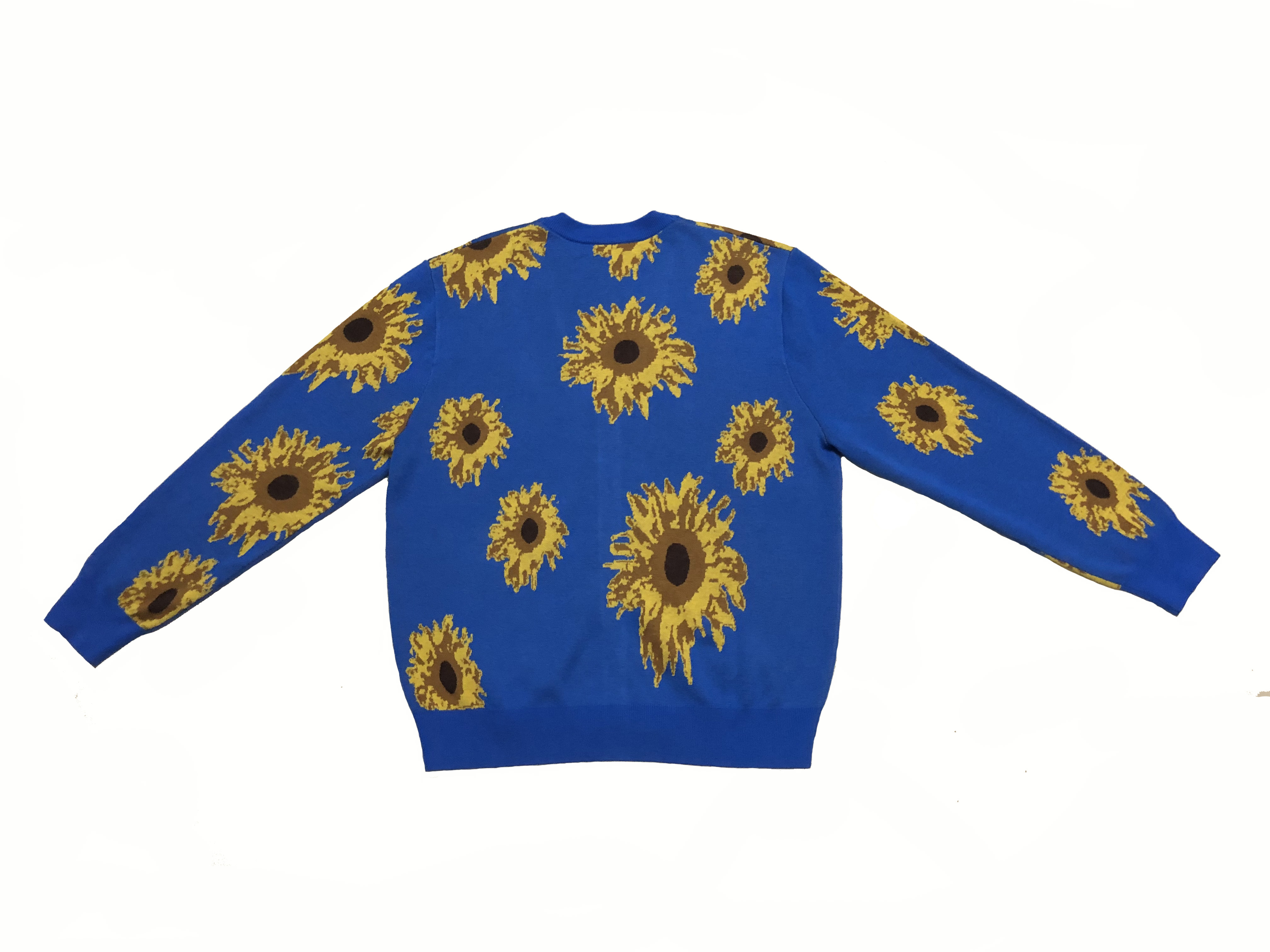 New Luxury Men High Golf ADVISRY Sunflower Landscape Casual Sweaters Cardigan Asian Plug Size High Drake Kanye #M45