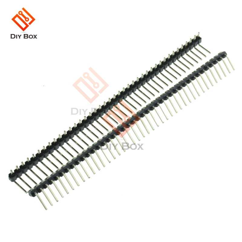 5Pcs Right Angle Baris Tunggal Pria PIN HEADER 40Pin 2.54 Mm Pecah Tandai Judul Pita Strip Konektor DIY untuk arduino