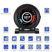 Uyumlu otomobil On kart bilgisayar araba dijital OBD 2 HUD ekran hız RPM MPH yakıt tüketimi Turbo sıcaklık ölçer