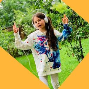 Image 5 - Moda 3D jednorożec bluzy bluza dziewczyny chłopcy tęczowy koń zwierząt drukowane cienka, długa rękaw dzieci bluza z kapturem maluch płaszcz z kapturem
