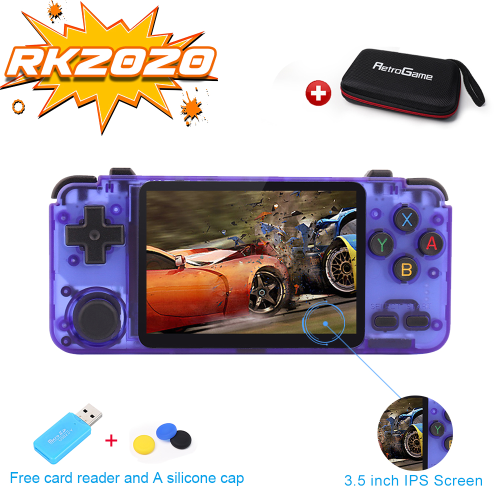 RK2020 Retro Console 3 5inch IPS screen portable handheld game console  PS1 N64 games video game player rk2020