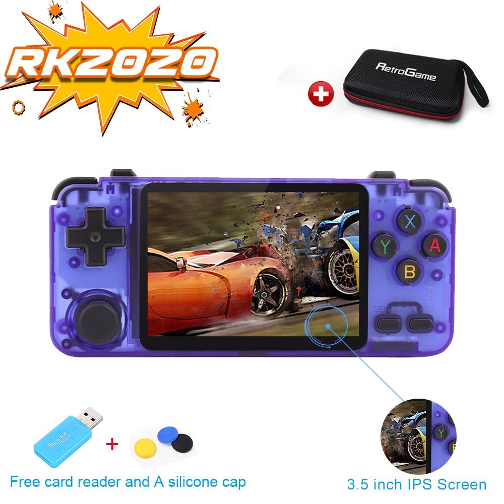 RK2020 Ретро консоль 3,5 дюймов IPS экран портативная игровая консоль PS1 N64 игры Видео игровой плеер rk2020