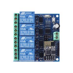 Image 5 - DC 12V ESP8266 & ESP 01 WIFI Relais Modul Vier Kanäle Für Smart Home Intelligente Möbel