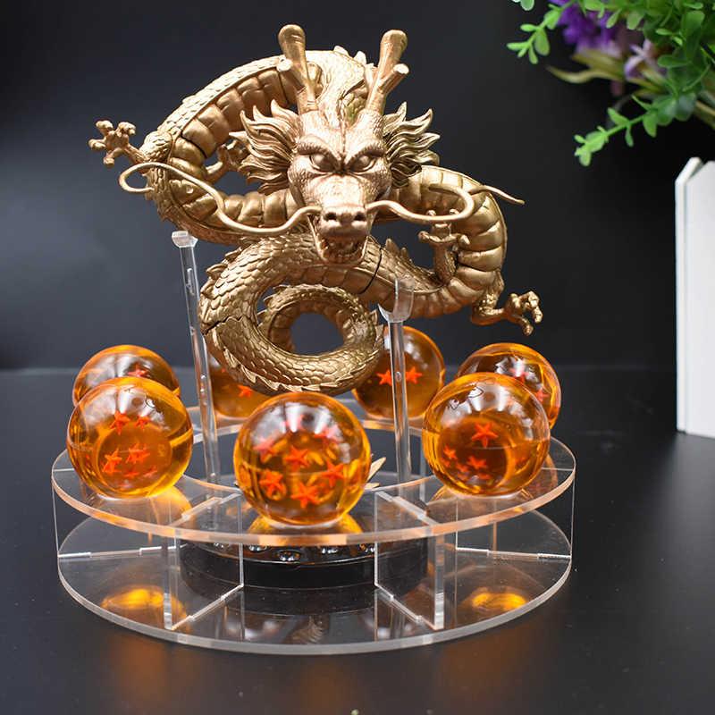 Dragão bola z figuras de ação shenron dragonball z figuras definir figuras de prateleira estatuetas dbz com prateleira montanha