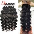 Пупряди волнистых волос Queenlife 8-30 дюймов, бразильские пупряди волнистых волос 100%, пучок человеческих волос Remy, пучок 3/4 пучков для наращивани...