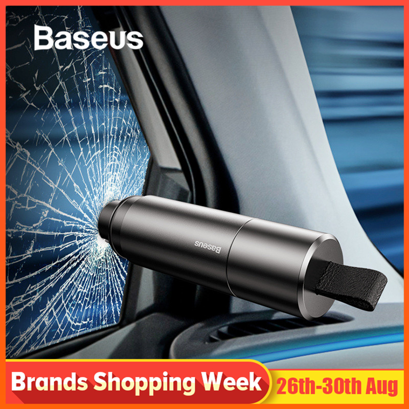 Baseus Seat-Belt-Cutter Cutting-Knife Escape Interior-Accessories Car-Window Mini Hammer