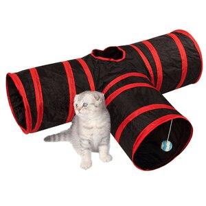 2/3/4/5 отверстия Pet туннель для кошек игрушки складной домашних животных с капюшоном «Китти Кэт» обучающая игрушка Интерактивная забавная иг...