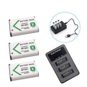 New 1350mAh NP-BX1 NP BX1 Battery for Sony DSC RX1 RX100 M3 M2 RX1R GWP88 PJ240E AS15 WX350 WX300 HX300 HX400 + USB Charger