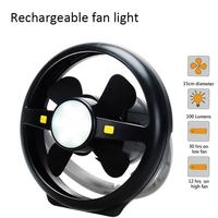 1pc Black Portable LED Camping Light With Ceiling Fan Tent Light 2 In 1 Hanging Lights Fan For Outdoor Camping Emergency